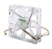 Вентилятор 120*120*25 ExeGate 12025M12B / LED 3пин / 1600об / 20дБ / 100гр / Red LED