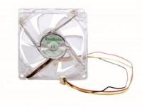 Вентилятор 80*80*25 ExeGate 8025M12B 3пин / 2200об / 26дБ / 60гр / Red LED