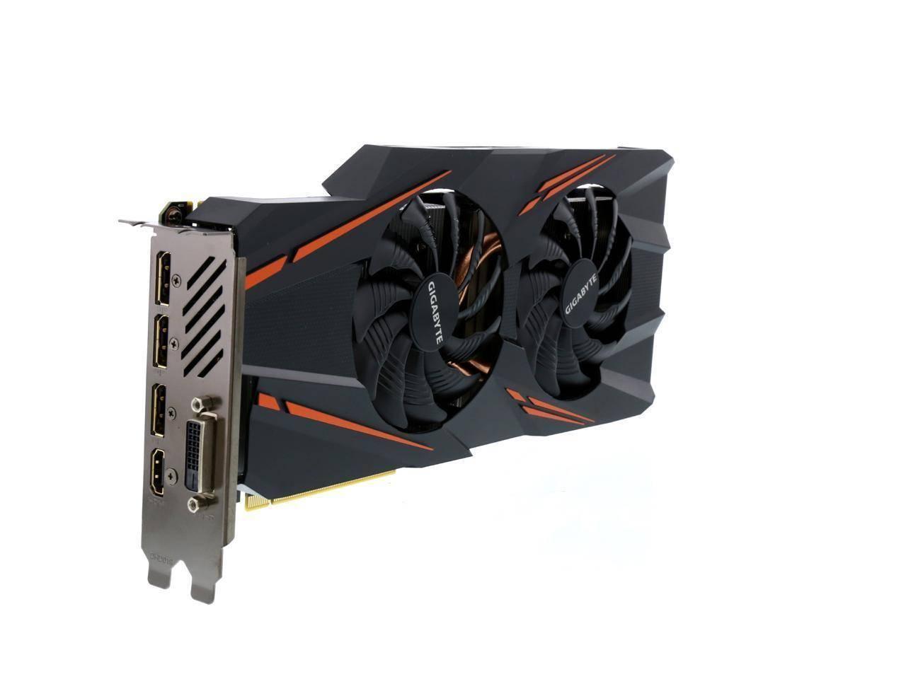 Видеокарта NVIDIA GeForce GTX 1070 WF OC 8Gb Gigabyte DDR5 DVI+HDMI+3xDP