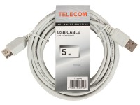 Кабель USB A -> A 5.0м Telecom <TC6936-5MO-GY> (удлинительный)