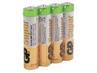 Элемент питания AAA уп.4шт. GP Super (24ARS,1.5V, Alkaline) спайка