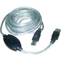 Кабель USB A -> A 15.0м VCOM <VUS7049-15м> (удлинительный, активный)