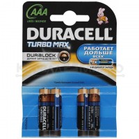 Элемент питания Duracell Turbo MAX AAA 4шт LR03-4BL