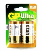 Элемент питания GP Ultra Alkaline 13AU R20, 1 шт