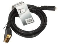 Кабель DVI-D -> DVI-D (25M-25M) 3.0м TV-COM 2 фильтра