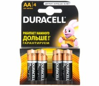 Элемент питания AA уп.4шт. Duracell Basic LR6-4BL (1.5V / Alkaline)