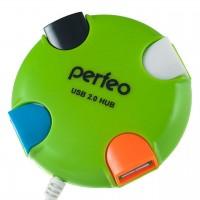 Концентратор USB2.0 Perfeo 020 4-port