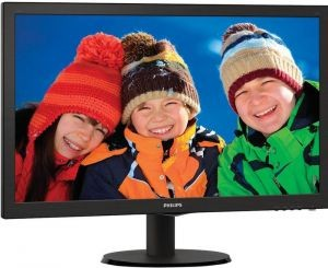 "Монитор - 23.6"" Philips 243V5LSB Black (16:9,1920x1080,5ms,250cd  /  m2,170°  /  160°,VGA,DVI)"