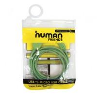 Кабель microUSB -> USB 1.0м Human <Rainbow>