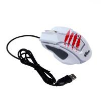 Мышь USB RITMIX ROM-350 White (5btn+Roll / 2400dpi)