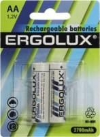 Аккумулятор AA 2700 mAh уп.2шт. Ergolux <NHAA2700BL2> (1.2V, NiMH)