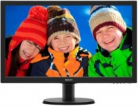 Монитор - 23.6 Philips 243V5LAB Black (16:9,1920x1080,5ms,250cd / m2,170° / 160°,VGA,DVI)