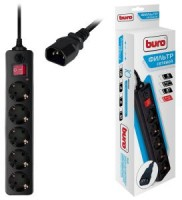 Сетевой фильтр 5.0м BURO 500SH-5-B (5 розеток)