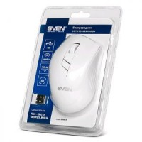 Мышь беспроводная USB SVEN RX-325 White 4btn+Roll / 600dpi-1000dpi