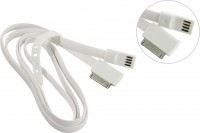 Кабель для устройств Apple USB / 30-pin 1.2м Smartbuy (IK-412) White