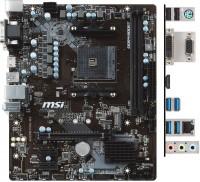Материнская плата MSI A320M PRO-M2 V2 Soc-AM4 AMD A320 2xDDR4 mATX AC97 8ch(7.1) GbLAN RAID+VGA+DVI