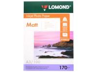 Фотобумага A3, матовая, 170 г / м2, 100 листов, LOMOND односторонняя (102012)