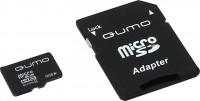 Флешка microSDHC 16Gb Qumo <QM16(G)MICSDHC4> Class4 с адаптером