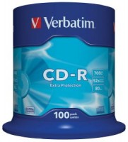 Диск CD-R Verbatim 700Mb 52x Cake Box (100шт) <43411>