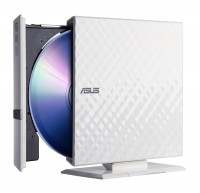 Внешний привод CD/DVD ASUS SDRW-08D2S-U <White> USB2.0 EXT (RTL)