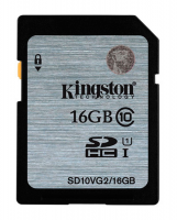 Флешка SDHC 16Gb Kingston Class10 <SD10VG2 / 16GB> с адаптером