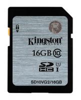Флешка SDHC 16Gb Kingston Class10 <SD10VG2 / 16GB> с адаптером