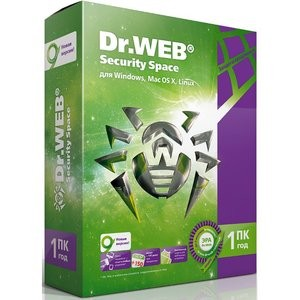Антивирус Dr.Web Security Space (1 год 1 ПК) <BHW-B-12M-1-A3> (BOX)