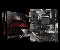 Материнская плата ASRock A320M-DVS R4.0 (RTL) AM4 <A320> PCI-E Dsub+DVI GbLAN SATA RAID MicroATX 2DDR4