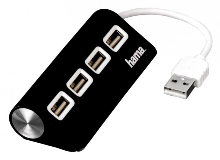 Концентратор USB2.0 Hama <TopSide> 4-port