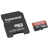 Флешка microSDHC 32Gb Transcend  Class10 UHS-I с адаптером
