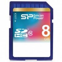 Флешка SDHC 8Gb Silicon Power class 10 SP008GBSDH010V10